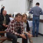 Regina i Jarosław Zasuniowie - gospodarze spotkania - podczas wykładów