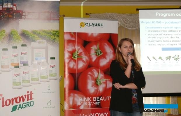 Aleksandra Sowińska z firmy Adama przedstawiła m.in. nowości w ochronie warzyw (AW)