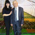 Jacek Wolski z córką Aleksandrą oferowali sadzonki wrzosów z grupy Gardengirls_Gardenia 2017