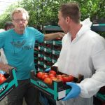 Wizyta w szklarni Johna de Jong w s'Gravanzande, obok Jack Endhoven (De Ruiter), AW