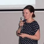 Dr Marta Repelewicz-Szybkowska przedstawiała wyniki oceny odmian pomidora - zwyciężyło Tomimaru Muchoo F1