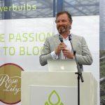Hans Kleijwegt, dyrektor firmy Van den Bos Flowerbulbs otwiera Dutch Lily Days 2017