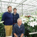 Jan-Willem Mantel, Michiel Ruiter i Wijnand van der Kooij z firmy De Jong Lelies_Dutch-Lily-Days 2017