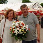 Życzenia z okazji 20-lecia firmy złożyła Joanna Firla z oferującej substraty torfowe firmy Novarbo OY