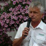 Prezes firmy Plantpol Jerzy Starzyński podczas otwarcia wystawy