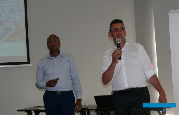 Stefano Hiwat z firmy Hoogendoorn i Sławomir Kozłowski z firmy Konexim