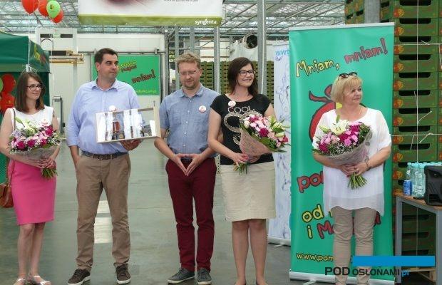 Gospodarze spotkania - Małgorzata Floriańczyk (z prawej), obok córka Monika z mężem oraz syn Piotr z narzeczoną
