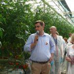 Informacji na temat uprawy udzielali gospodarze spotkania - Piotr i Małgorzata Floriańczyk