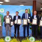 Przedstawiciele firm, które odebrały medale i wyróżnienia w Konkursie Roślin Nowości (od lewej: P. Godlewski, A. Gruszczyński, J. Kurowski, N. Nowaczyk, B. Hajdrowski, O. Palusier