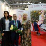 Dyrektor Julia Czaryszkina, Georgij Nazar i Irina Zemcewa - gospodarstwo Podosinki_FlowersExpo 2017_Moskwa_fot.-A-Cecot