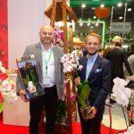 Krzysztof Rutkowski i Jacek Ptaszek na stoisku firmy JMP Flowers_FlowersExpo-2017_Moskwa