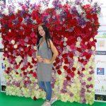 Scianka reklamująca kwiaty z Ekwadoru_FlowersExpo Moskwa 2017
