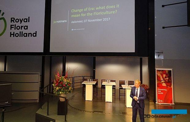 Profesor Jan Rotmans z Uniwersytetu Erazma przewiduje rewolucję w funkcjonowaniu rynku kwiaciarskiego, fot. A. Cecot