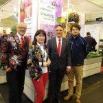 Vitroflora na IPM Essen 2018 (od prawej: Aleksander Michalik, Tomasz Michalik, Agnieszka Pawlak-Anhalt i niemiecki przedstawiciel firmy - M. Fischer