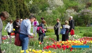 """Podczas konferencji """"Ozdobne rośliny cebulowe - produkcja i zstosowanie"""", zorganizowanej w SGGW można było zwiedzić kolekcję bylin Katedry Roślin Ozdobnych tej uczelni"""