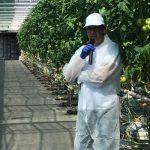 Firmę Grodan, dostarczającą podłoża do uprawy w gospodarstwie, reprezentował Marcin Włodarczyk