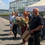 Otwarcie spotkania w Gospodarstwie Ogrodniczym Malczyk w Zaborówcu (25 maja 2018 r.), prowadzonym przez Izabelę Malczyk-Koźlik i Radosława Koźlika
