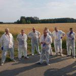 Uczestnicy spotkania Syngenty, doradcy uprawowi w gospodarstwa pp. Krzywych