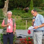 ustępujący prezes ISU A. Altwegg i nowy prezes tej organizacji Aad Vollebregt (z prawej