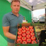 Piotr Pietrzak z firmy Enza Zaden przedstawia nowość odmianową wśród pomidorów malinowych znajdującą się jeszcze pod numerem E15A.41717