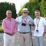 Od lewej: W. Barcikowski, Dan Heims (znany hodowca żurawek z firmy Terra Nova z USA), T. Michalik