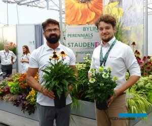 Dariusz Śnieg (manager ds. marketingu) i Aleksander Michalik (manager ds. produktu) z Vitroflory podczas Plantarium 2018