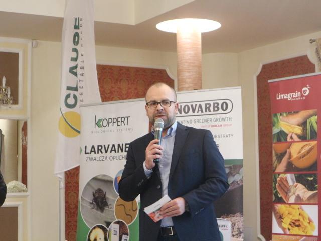 Spotkanie otworzył Michał Taraska - dyrektor sprzedaży i rozwoju firmy HM.Clause