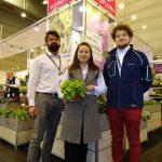 Dariusz Śnieg, Agnieszka Pawlak-Anhalt i Aleksander Michalik z firmy Vitroflora_IPM Essen 2019