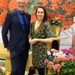 Tomasz Burda i Fabienne Monté prowadzaca hodowle pelargonii w firmie Florensis_IPM Essen 2019