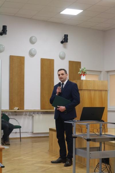 Spotkanie otworzył p.o. dyrektora MODR Dominik Pasek