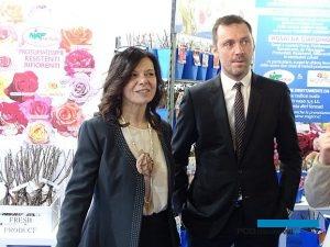 Szefowa targów Valeria Randazzo oraz Gianpietro D'adda - prezes konsorcjum Myplant & Garden