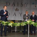 Prezes ZSzP Wojciech Wróblewski oraz burmistrzowie: Bergisch Gladbach – Lutz Urbach i Pszczyny - Dariusz Skrobol podczas otwarcia Daisy Days 2019