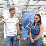 Krzysztof Mojsym z firmy GEO Polska i Beata Tatarczyk (IMAGO)_Dni Otwarte Plantpol 2019