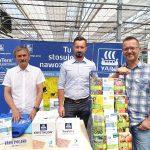 Henryk Wilczyński, Michał Wojcieszek i Wojciech Wojcieszek z przedsiębiorstwa YARA Poland_Dni Otwarte Plantpol 2019