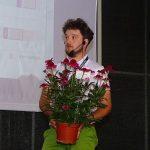 Aleksander Michalik podczas prezentacji na temat bylin _Dni Otwarte Vitroflory 2019