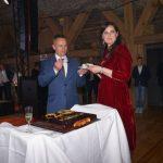 Właściciel firmy Farmer Łukasz Kłósek z żoną Małgorzatą podczas jubileuszu 20-lecia firmy