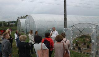 Lwią część konferencji stanowiła prezentacja prowadzonych doświadczeń tunelowych w konwencji ekologicznej, fot. P. Bucki