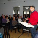 Andrzej Szymański z Grupy Krasoń podczas prezentacji dla producentów papryki w Przytyku