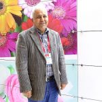 Abdulhamit Başkurt - producent kwiatów - na stoisku tureckiego Stowarzyszenia Eksporterów Roślin Ozdobnych, które promowało nową markę Turkish Flowers _Flower-Show-Istanbul 2019