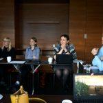 Od lewej: Anna Wojciechowska, Paulina Janicka, dr Katarzyna Tykarska-Duchovska oraz Grzegorz Fic - ekipa De Ruiter'a podczas spotkania w Piasecznie