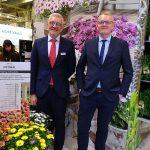 Tomasz Burda i Mariusz Federowicz na ekspozycji firmy Florensis_osteospermum__IPM Essen 2020