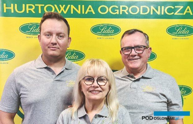 Właściciele firmy Lidia Horti-Logistic - od lewej Krzysztof, Lidia i Mirosław Gimlowie