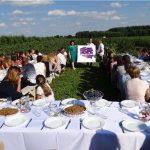 Na uroczysty obiad zaproszono pracowników zatrudnionych przy zbiorach