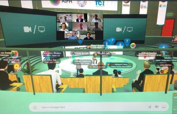 Konferencja AIPH odbyła się w wirtualnej przestrzeni i zgromadziła ponad dwustu uczestników z całego świata, fot. AIPH
