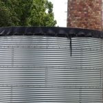 Jeden ze zbiorników na wodę deszczową w firmie Royal Plant