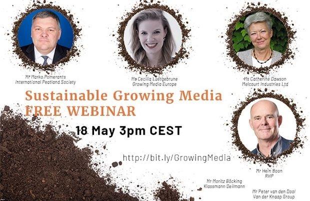 """Webinarium """" Sustainable Growing Media """" nt. wykorzystania torfu w ogrodnictwie oraz przyjaznych środowisku podłoży uprawowych, fot. FCI"""