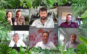 """Prelegenci i gospodarze webinarium pt. """"Jak skapitalizować rosnący popyt na rośliny do dekoracji wnętrz"""", fot. AIPH"""
