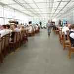 Uroczysta część spotkania w gospodarstwie Ogrodnictwa Nowaccy w Dachowej 10 lipca 2021 r.