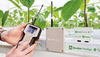 GroSens to ważny element e-Gro, zapewniający precyzyjną kontrolę monitoring warunków środowiska korzeniowego.