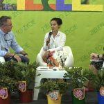 Migawka ze Studia Targowego ZtŻ 2021 (od lewej: red. Marek Jezierski, Anna Ciepłucha - wystawca, Oktawia Wasilewska